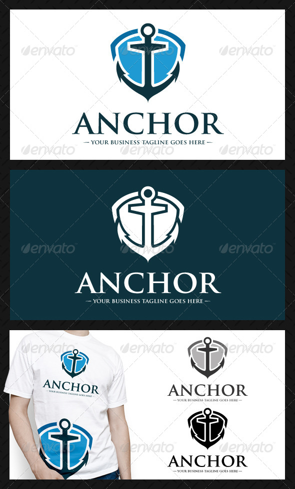 Anchor Shield Logo Template - Objects Logo Templates