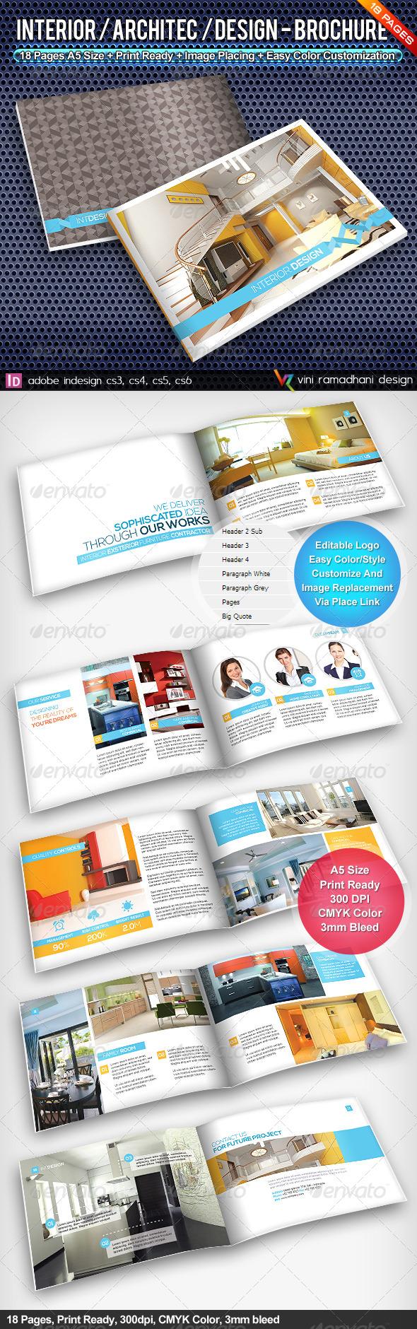 Interior Achitecture Design Brochure  - Portfolio Brochures