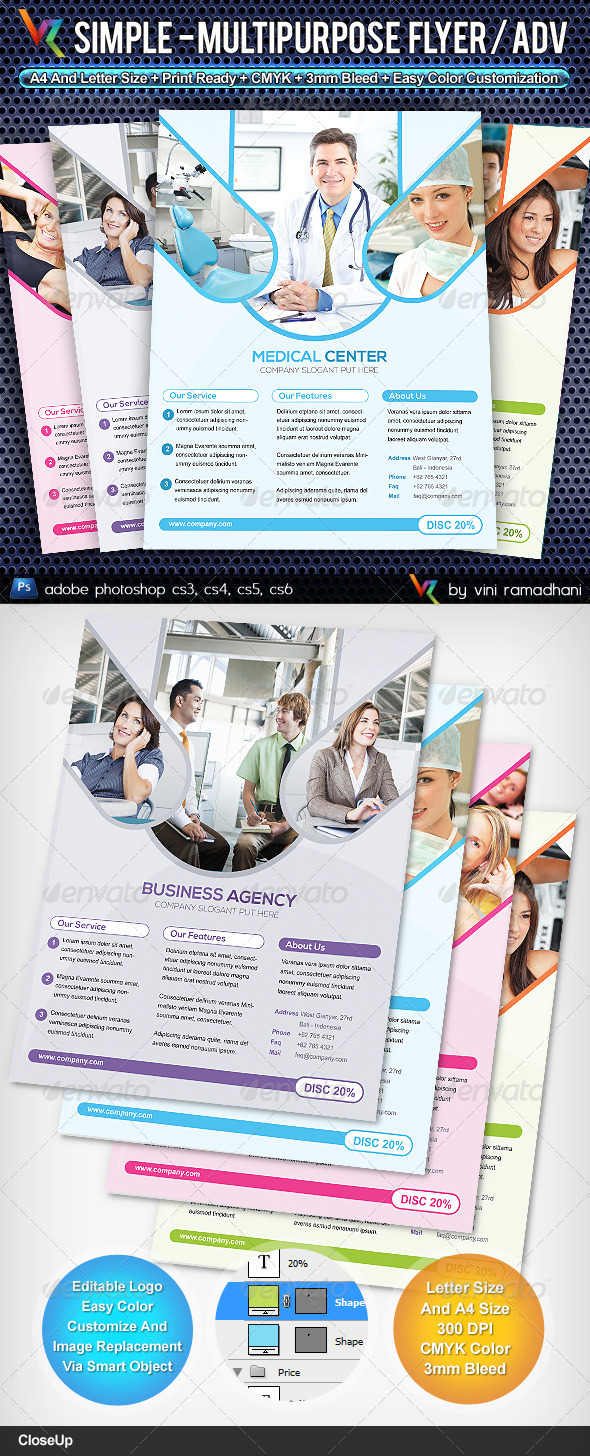 Simple Multipurpose Flyer Or Adv - Corporate Flyers