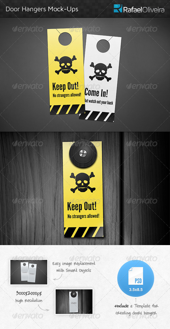 Door Hanger Mock-Ups By Rafaeloliveira | Graphicriver