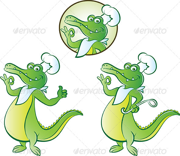 Cook Croc - Animals Characters