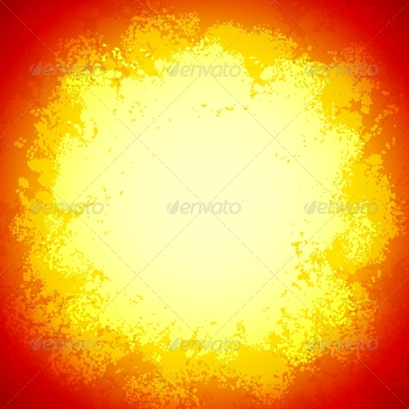 Bright Red Vector Grunge Colorful Explosion  - Backgrounds Decorative