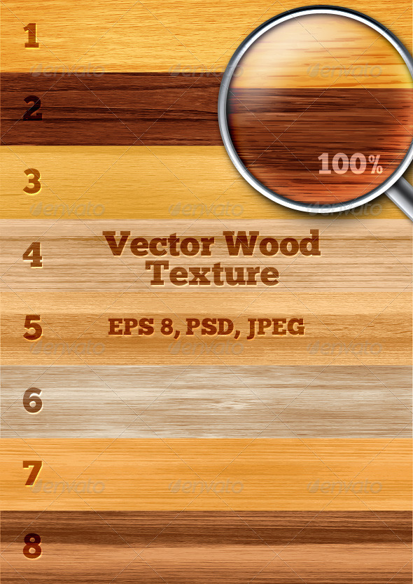 Vector Wood Texture - Backgrounds Decorative