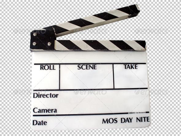 Clapperboard Transparency - Miscellaneous Isolated Objects