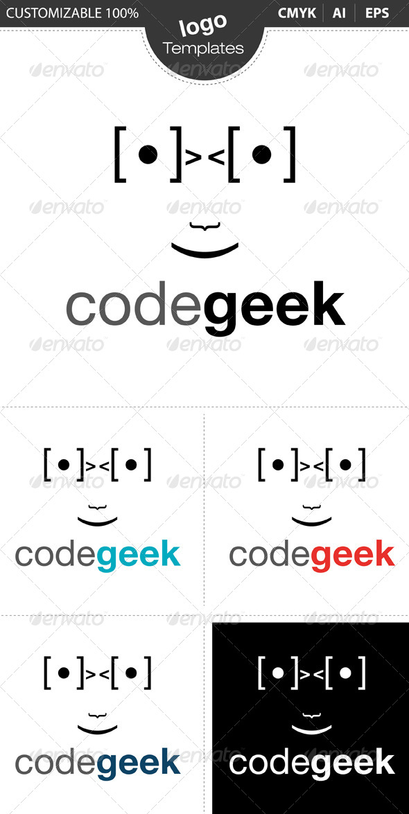 Code Geek Logo - Humans Logo Templates