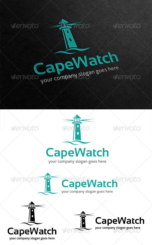 Cape Watch Lighthouse Logo - Buildings Logo Templates