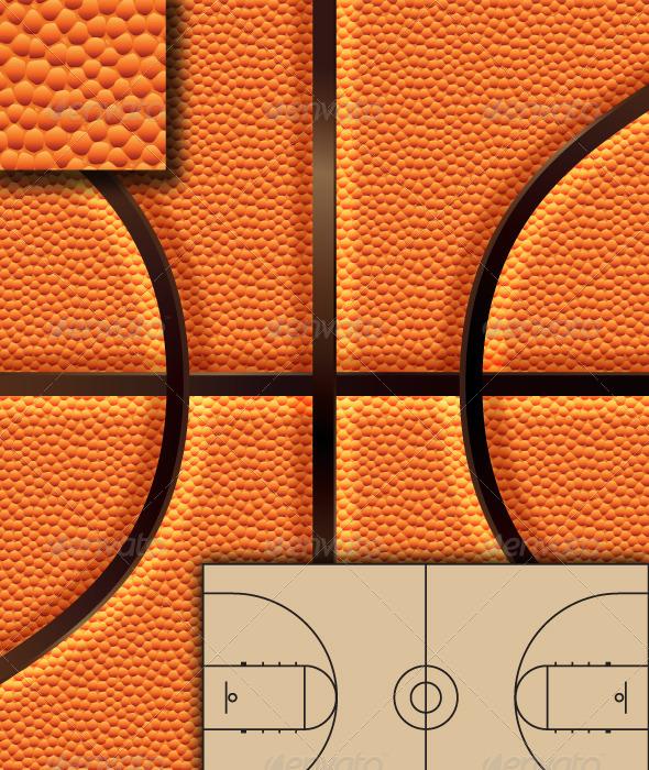 Basketball Background Set + - Backgrounds Decorative