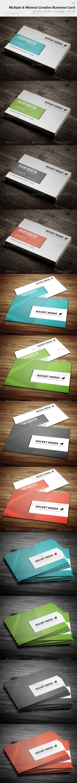 Multiple & Minimal Creative Business Card - 12 - Corporate Business Cards