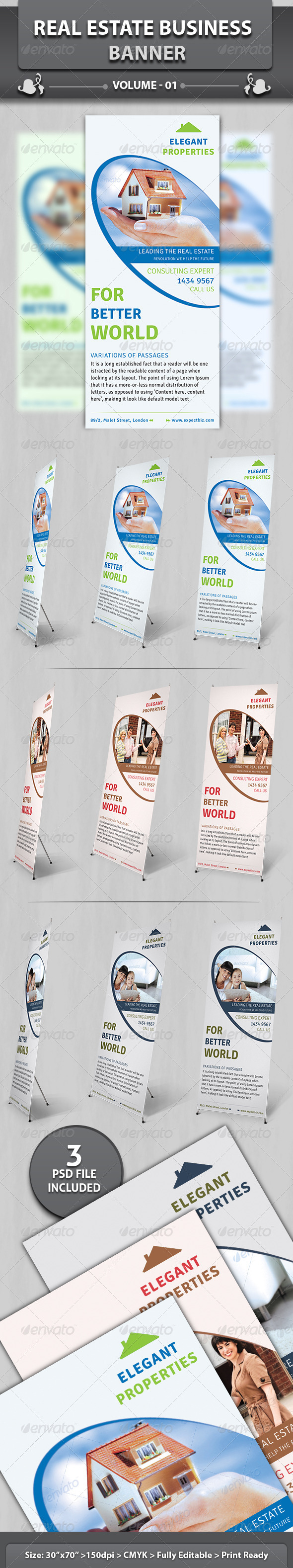 Real Estate Business Banner | Volume 2 - Signage Print Templates