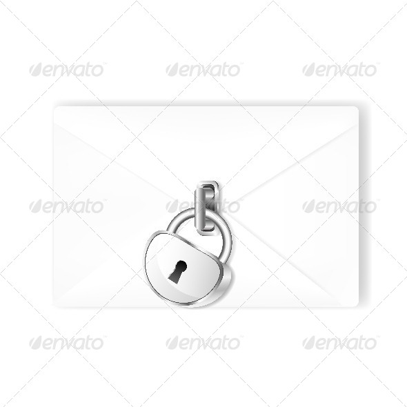 Mail with Lock - Conceptual Vectors
