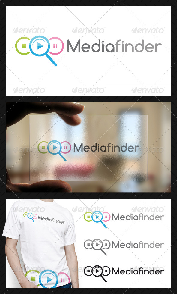 Media Finder Logo Template - Objects Logo Templates