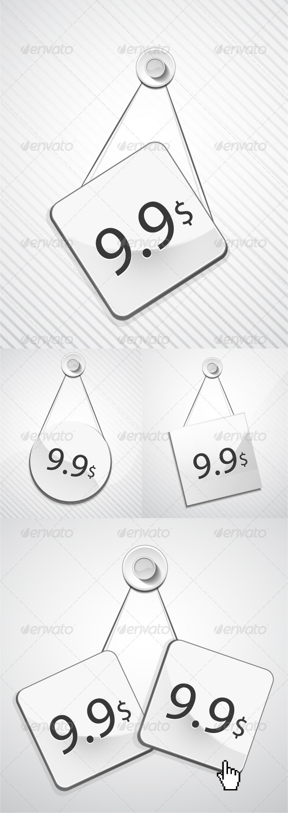 Metal hang tags - Retail Commercial / Shopping