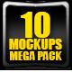10 Web Showcase MockUps Mega Pack - GraphicRiver Item for Sale