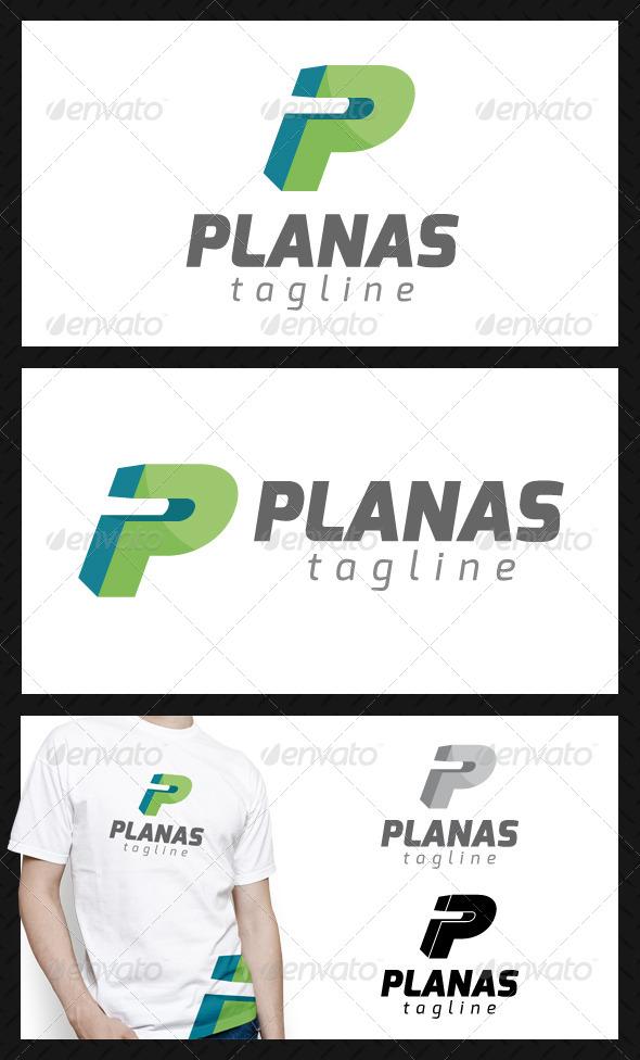 Planas Letter P Logo Template - Letters Logo Templates