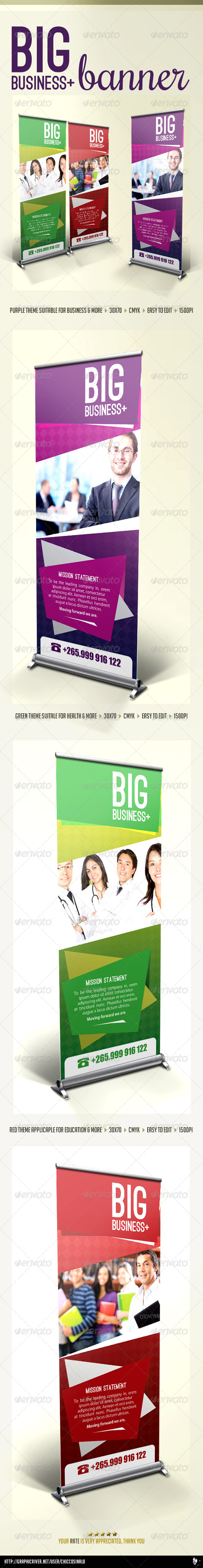 Big business banner template by chiccosinalo graphicriver big business banner template wajeb Image collections