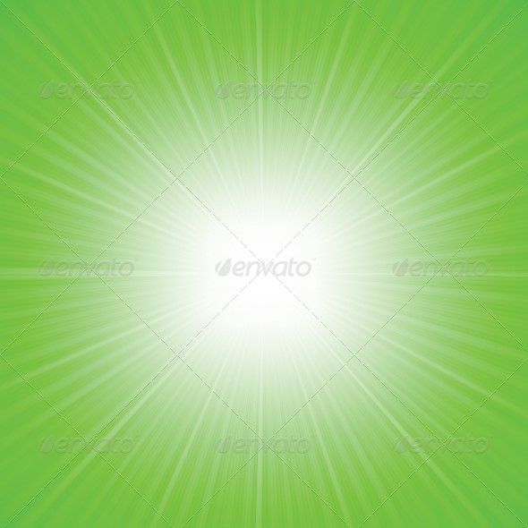 Rays Green Abstract Background - Backgrounds Decorative