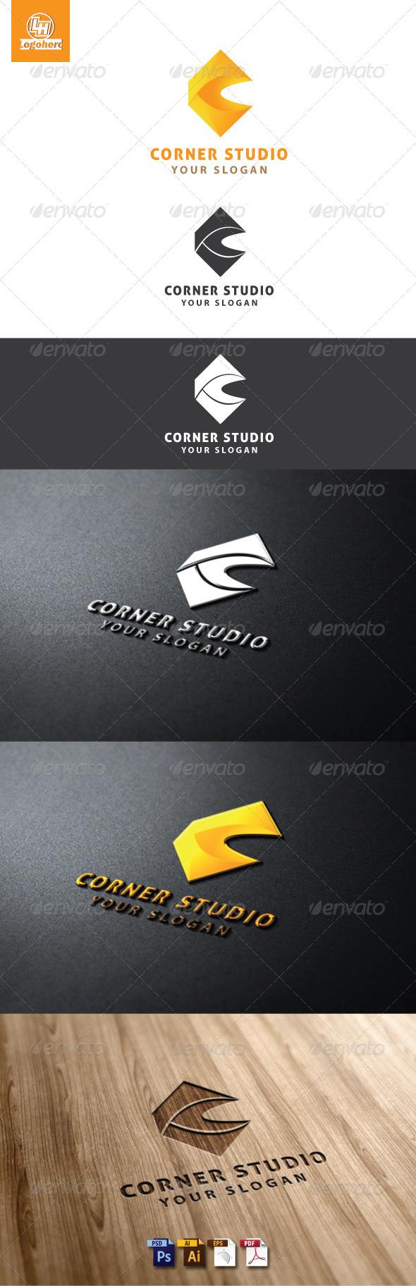 Corner Studio Logo Template - Letters Logo Templates