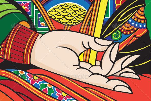 The Hand of Buddha - Religion Conceptual