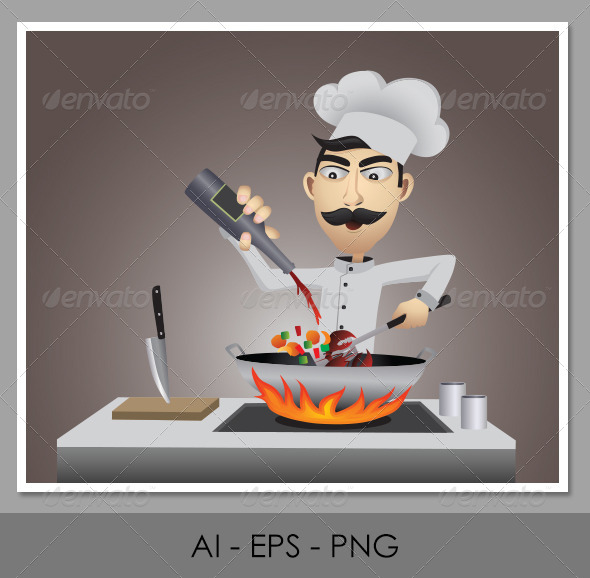 Character Design - Chef - Food Objects
