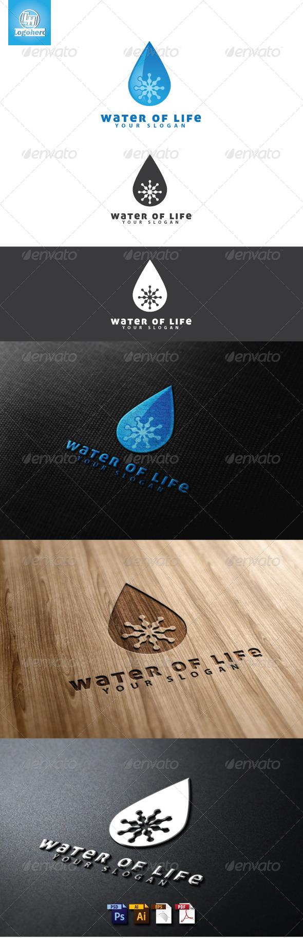 Water of Life Logo Template - Nature Logo Templates