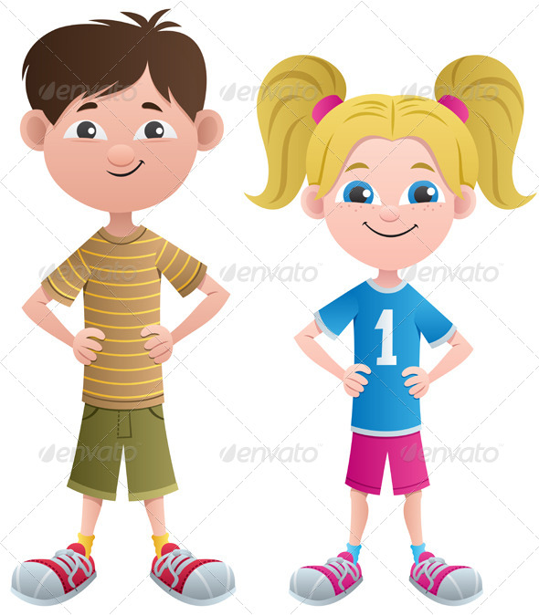 Boy and Girl - People Characters
