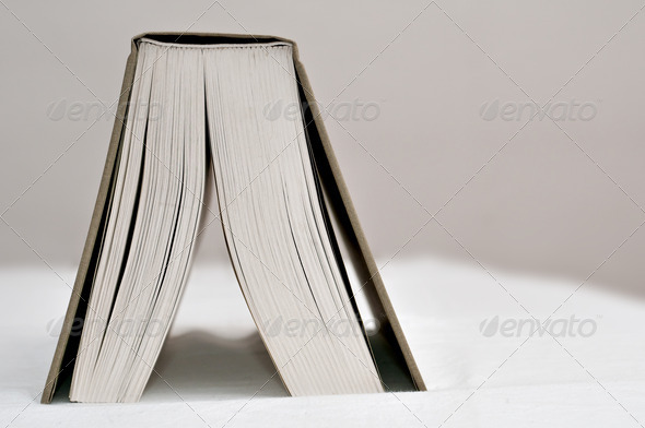 Open Book on Table - Stock Photo - Images