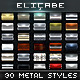 30 Metal Photoshop Styles [Bundle] - GraphicRiver Item for Sale