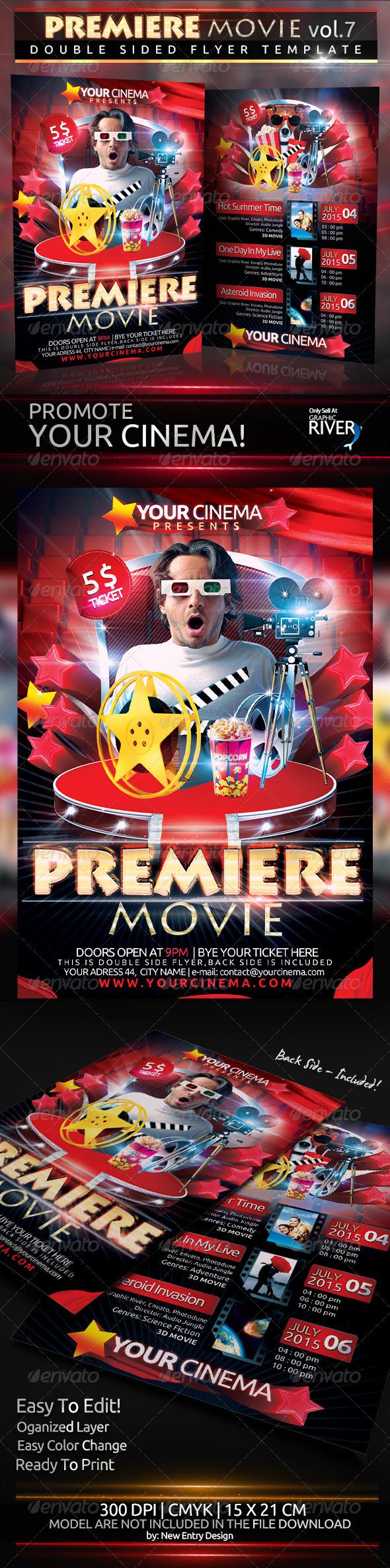 Premiere Movie Vol7 - Flyers Print Templates