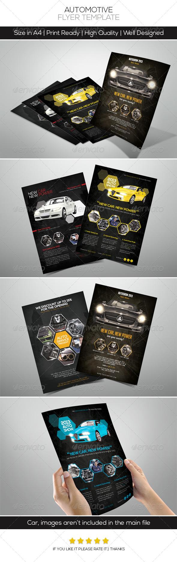 Premium Automotive Flyers - Commerce Flyers