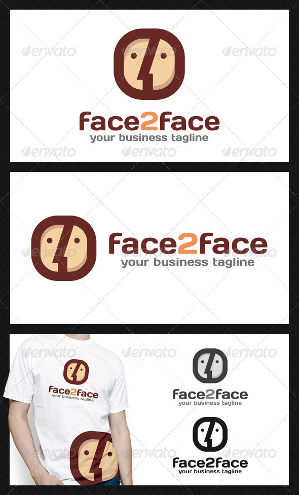 Face To Face App Logo Template - Humans Logo Templates