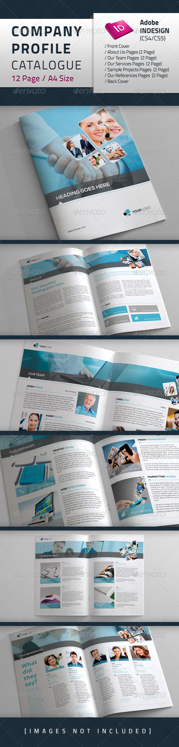 Company Profile Catalogue - Brochures Print Templates