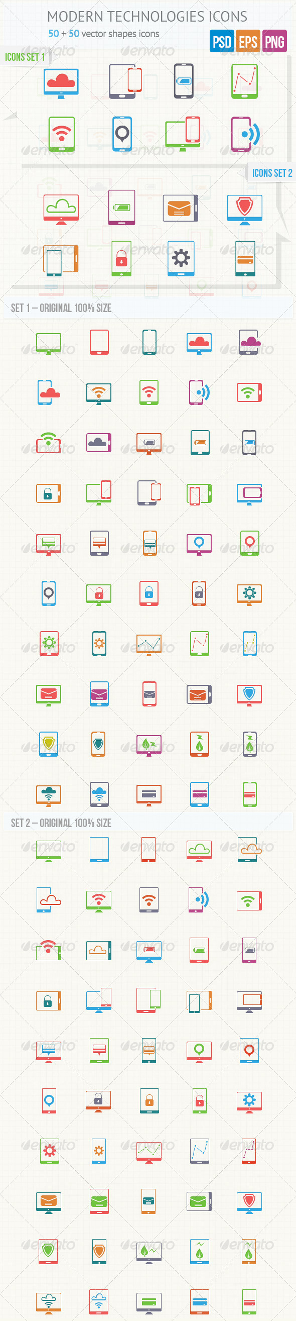 Modern Technologies Icons - Icons