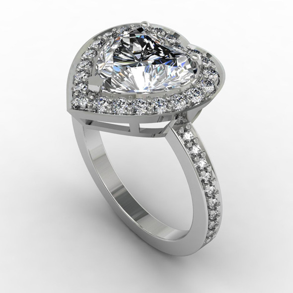 NR Design Aphrodite Diamond Ring - 3DOcean Item for Sale