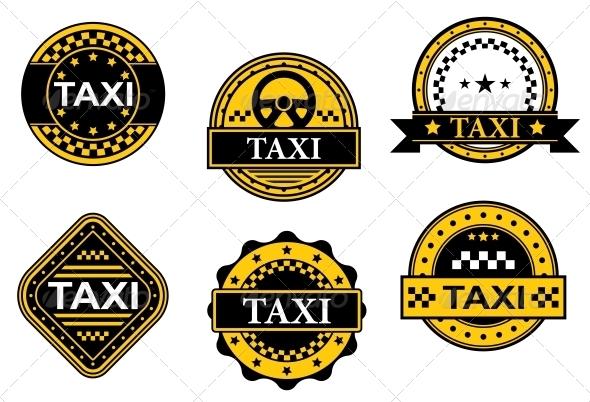 Taxi Service Symbols - Miscellaneous Vectors
