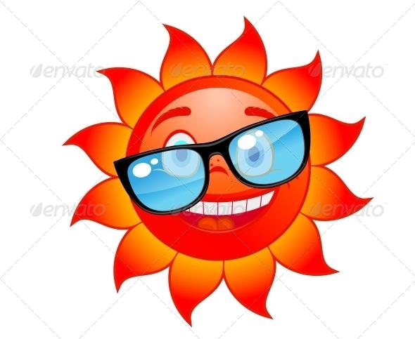 Happy Sun in Sunglasses - Seasons Nature