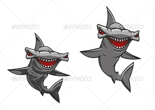 Hammer Fish Shark - Animals Characters