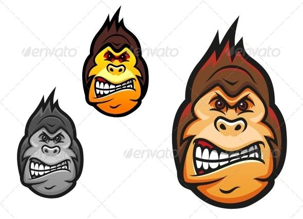 Angry Monkey Mascot - Animals Characters