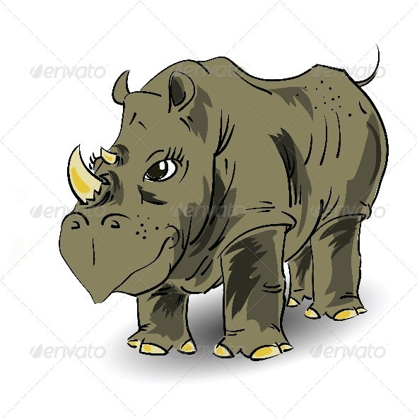 Large Rhino - Animals Characters
