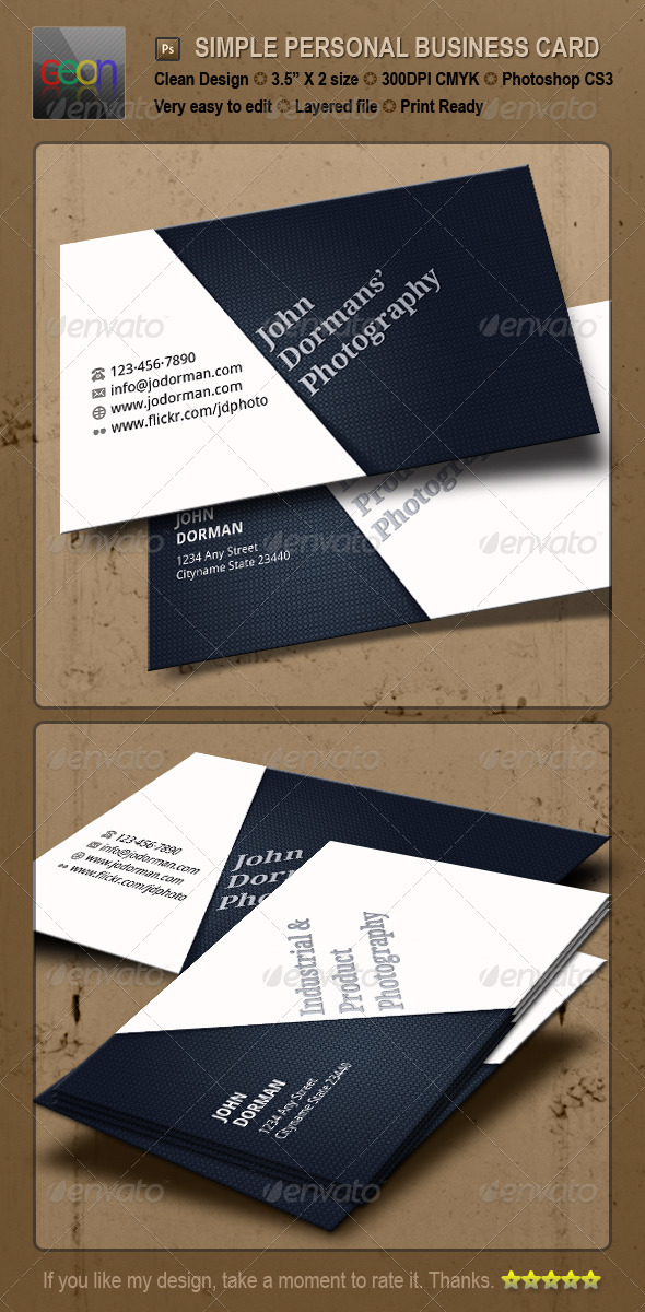 Blackish Pesonal Business Card - Corporate Business Cards