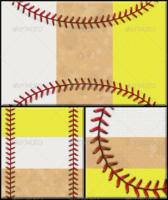 BaseballSoftball Background Set By Tradigitalart  Graphicriver