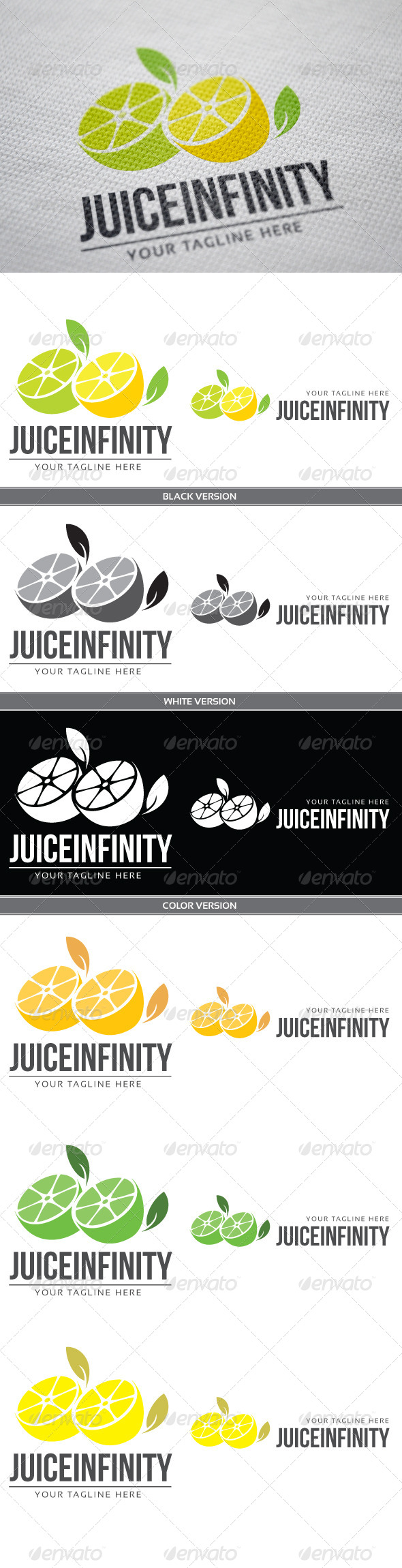 Juice Infinity - Nature Logo Templates