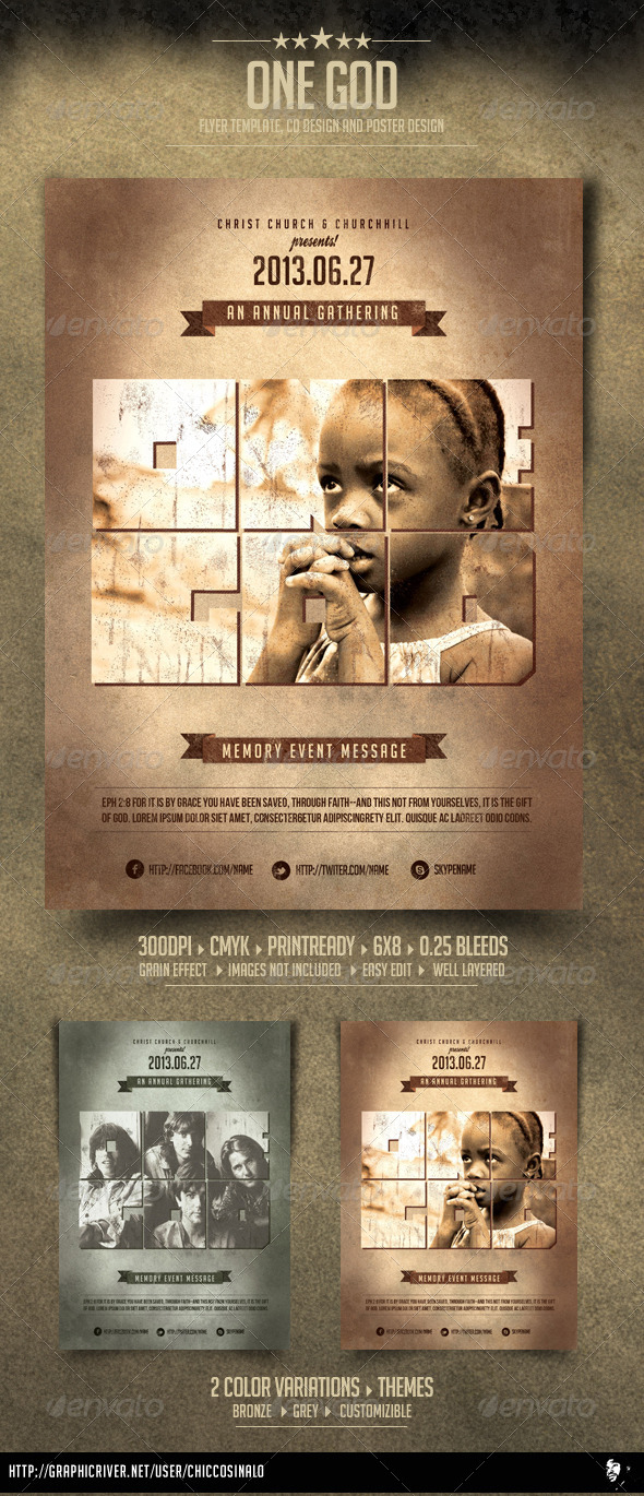 One God Flyer Template - Concerts Events