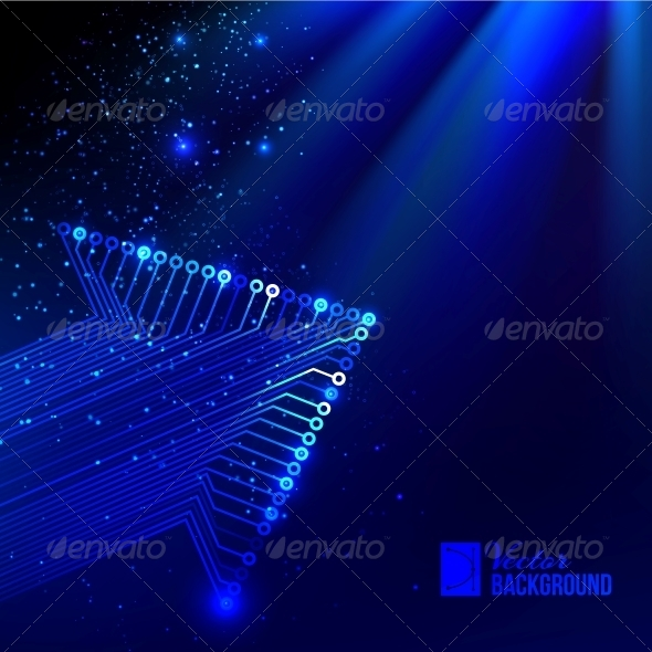 Arrow Blue Background - Abstract Conceptual