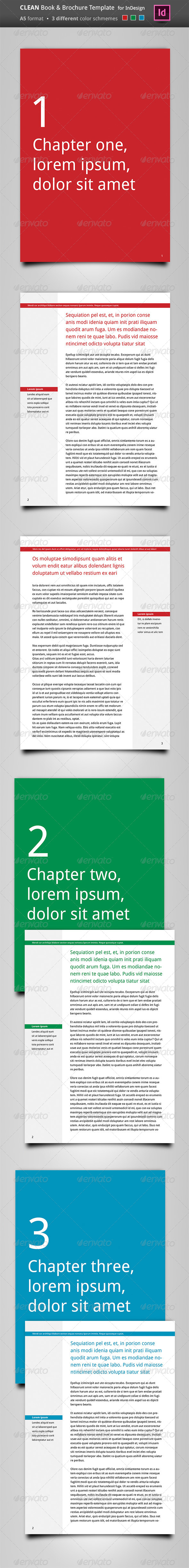 Clean Book & Brochure Template - Brochures Print Templates