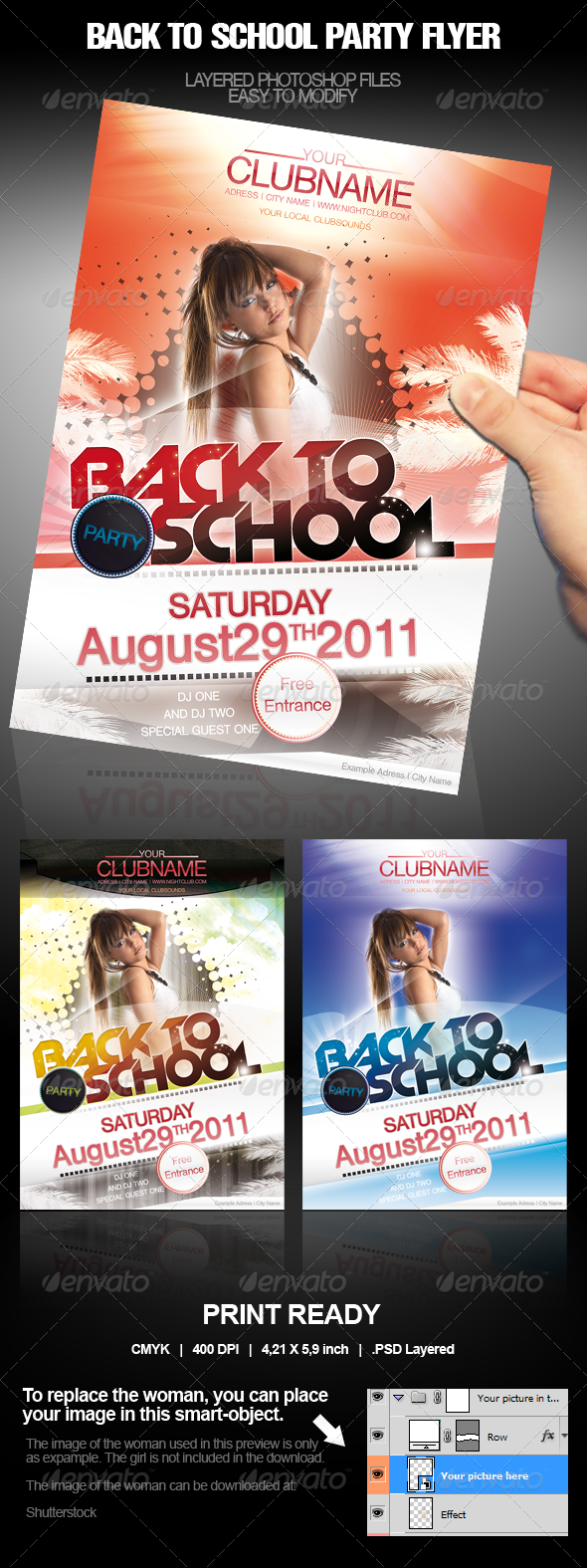 Party Event School Flyer/Poster - Clubs & Parties Events