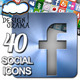 40 Social Icons - Airbrush, Brushed Metal & Normal - GraphicRiver Item for Sale
