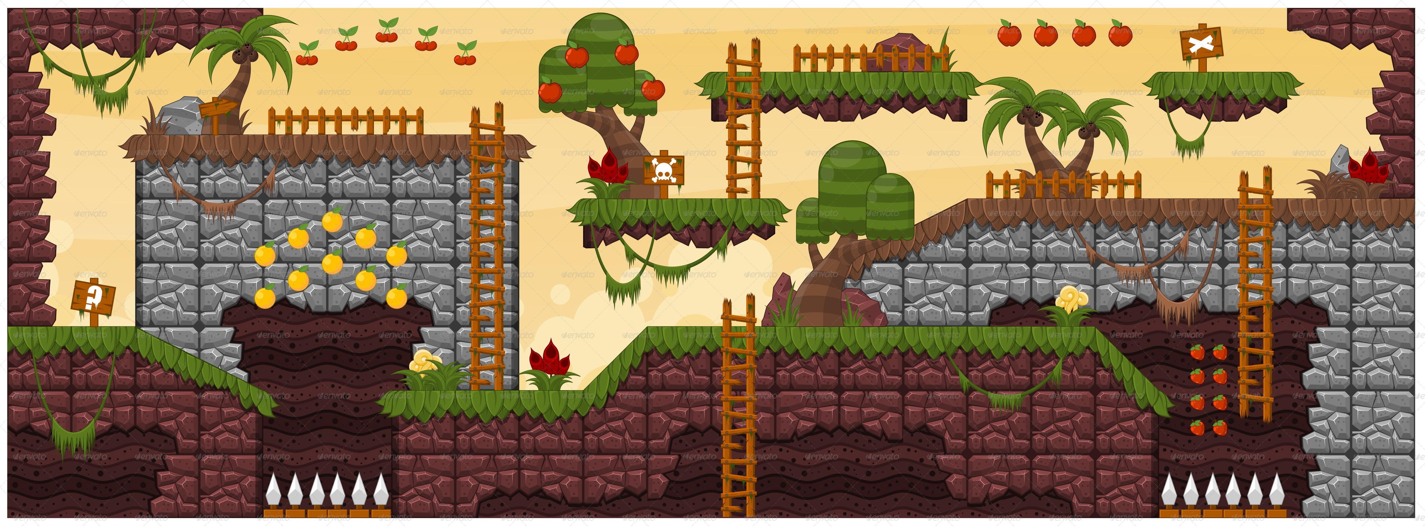 Platformer Game Tile Set 6