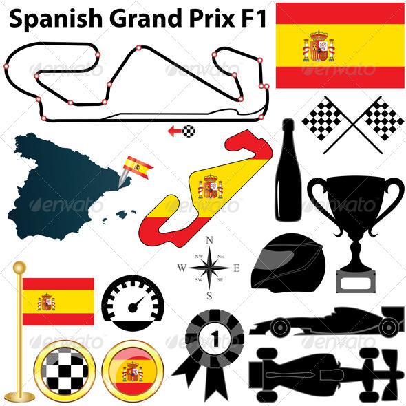 Spanish Grand Prix F1 - Sports/Activity Conceptual
