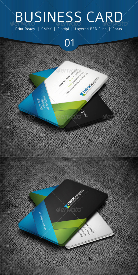 Business Card Design 1 - Business Cards Print Templates