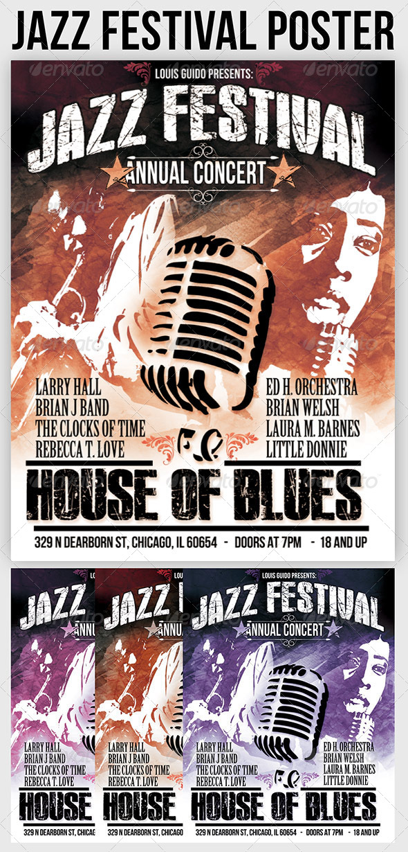 Jazz Poster - Concerts Events